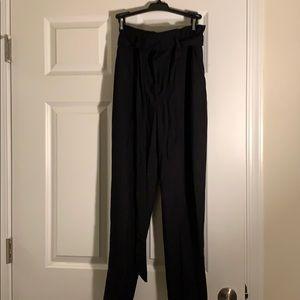 Black dress pant it with tie
